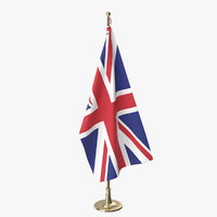united kingdom office flag 3D model