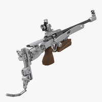 3D biathlon rifle