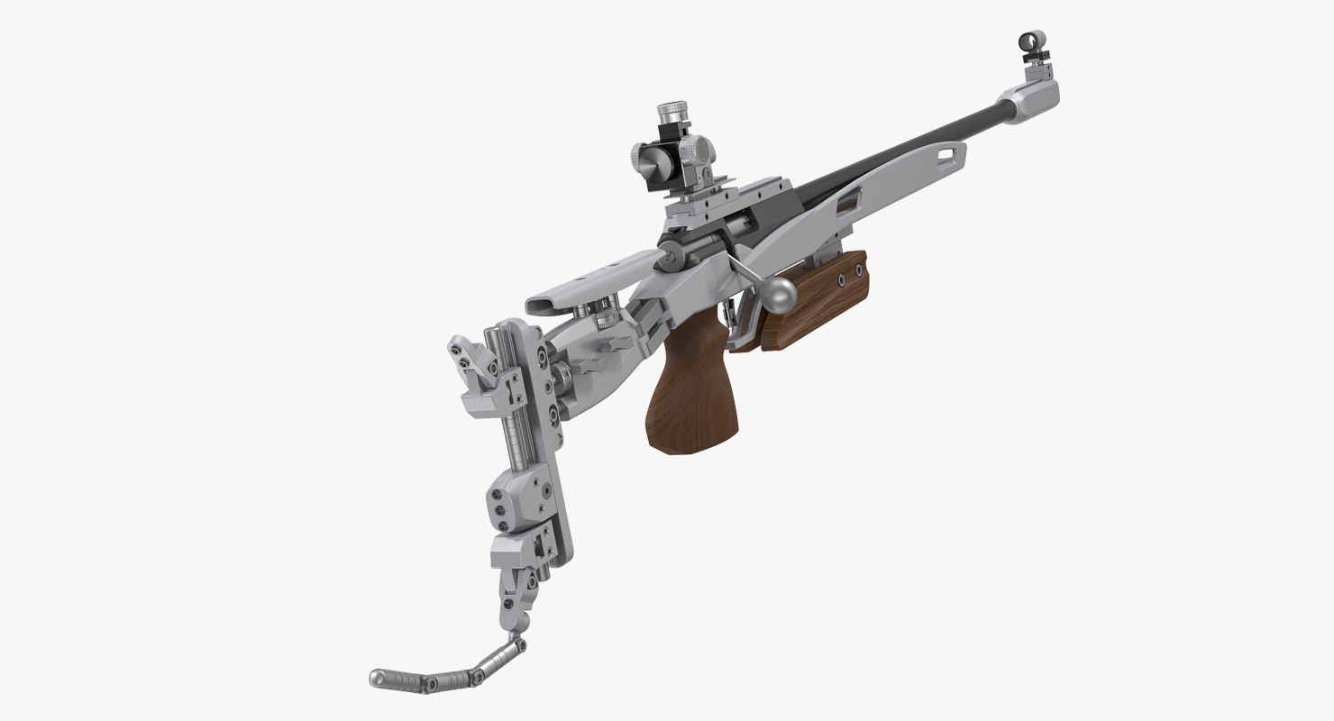 3D biathlon rifle
