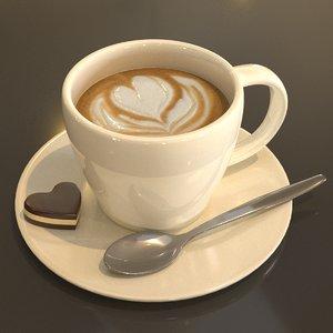 cup cappuccino 3D model