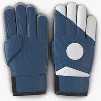 3d goalie gloves blue