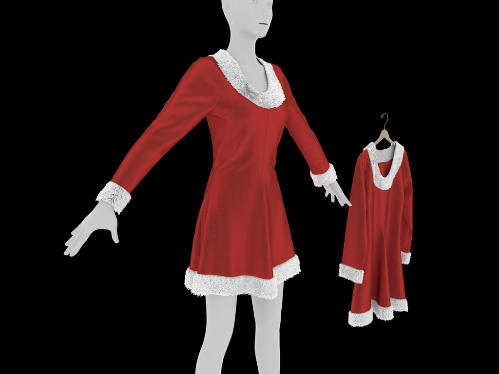 3D christmas dress