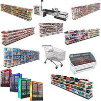 3D big supermarket