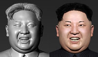 3D kim jong-un modeled