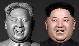 3D kim jong-un modeled