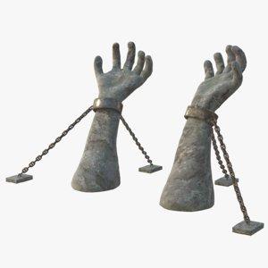 3D stone hand