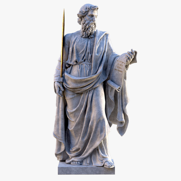 saint paul vatican statue 3D model