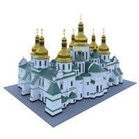 sophia kyivska 3D model