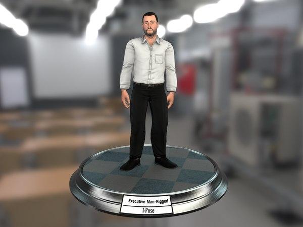 3D executive man