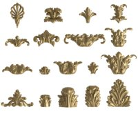 Acanthus vertical leaf set
