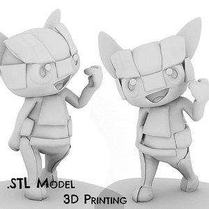 3D miraitowa mascot