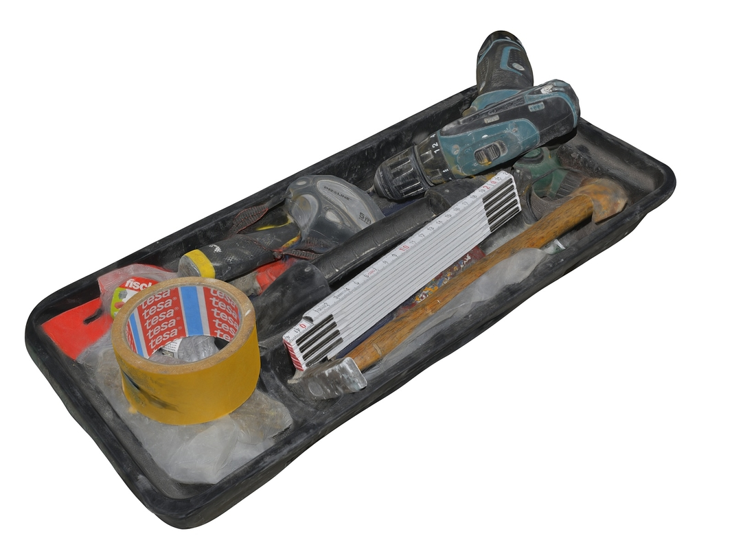 tools scanned 3D model