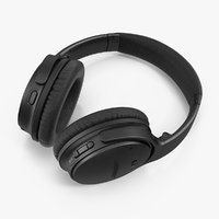 Bose Quiet Comfort Headphones Black Lying On