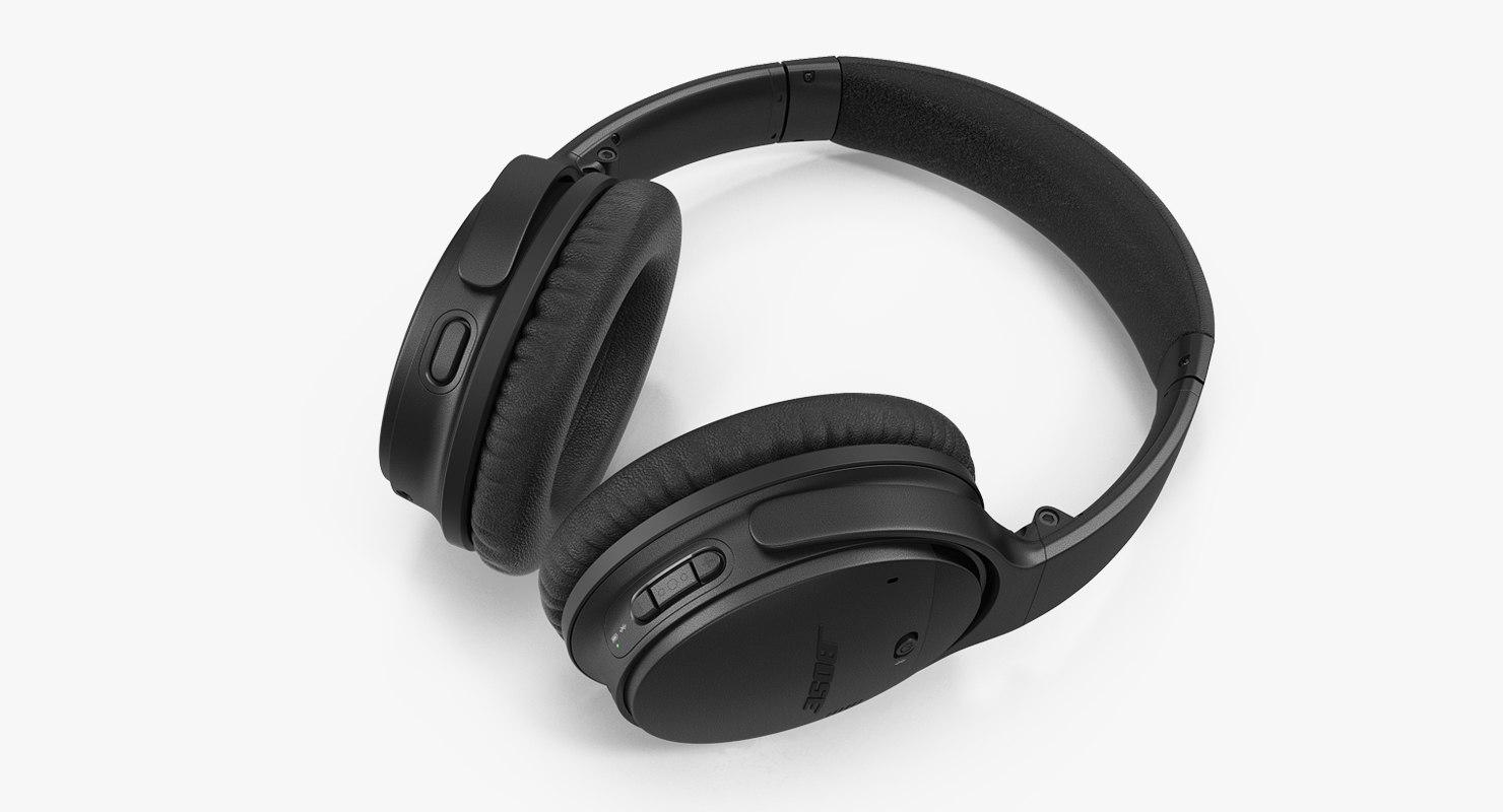 1071aaf7669 Bose quiet comfort black 3D model - TurboSquid 1350296