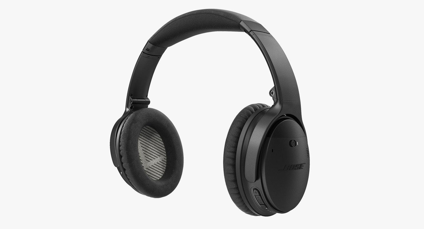 685024b0794 Bose quiet comfort wireless 3D model - TurboSquid 1350292