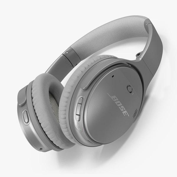 3D bose wireless headphones lying model