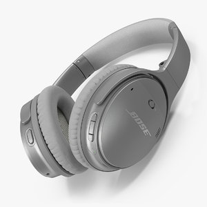 3D bose wireless headphones lying model