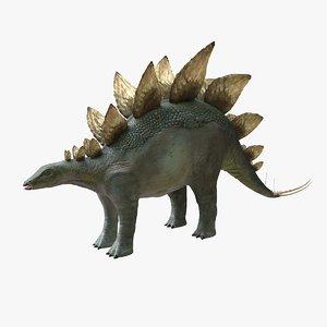 stegosaurus dinosaur animal 3D