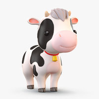 Cartoon Cow Black and White(1)