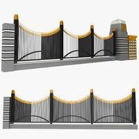 fence railing architectures model