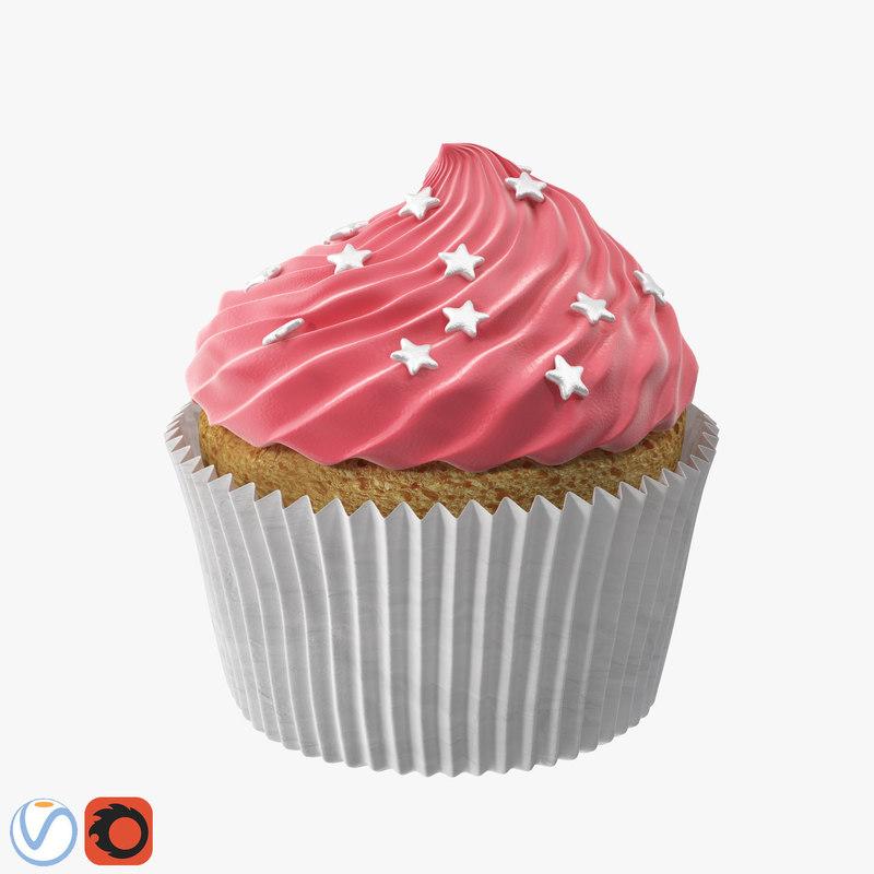 3D cake cupcake