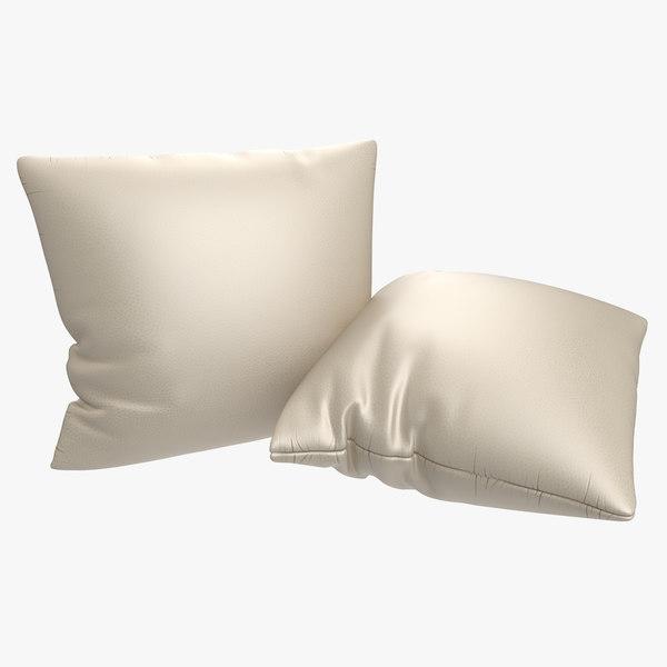 leather pillow 3D model