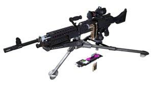 3D m240b machine gun