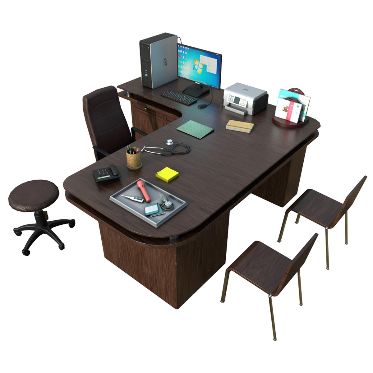 Model Doctor Desk Clinic Accessories