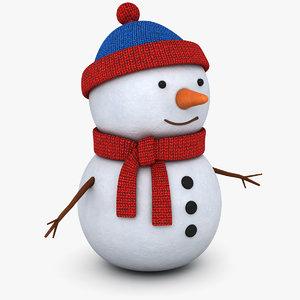 3D snowman snow man