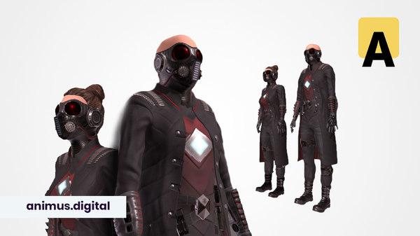 sci-fi suit ac-1 modular model