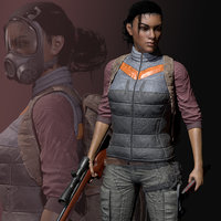 3D survivor character female