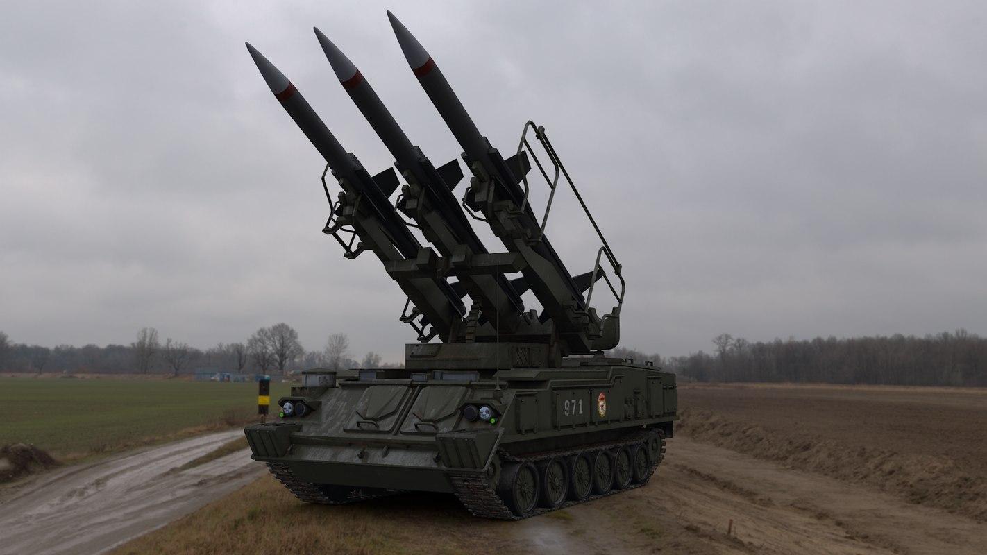 3D soviet 2k12 kub sa-6
