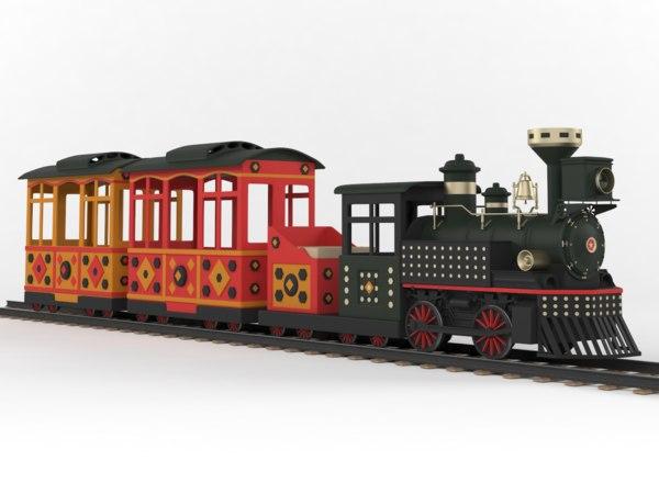 3D train ride