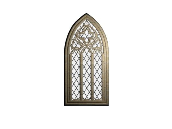 window medieval castle 3D model