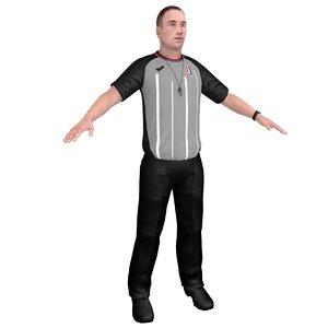 3D basketball referee model