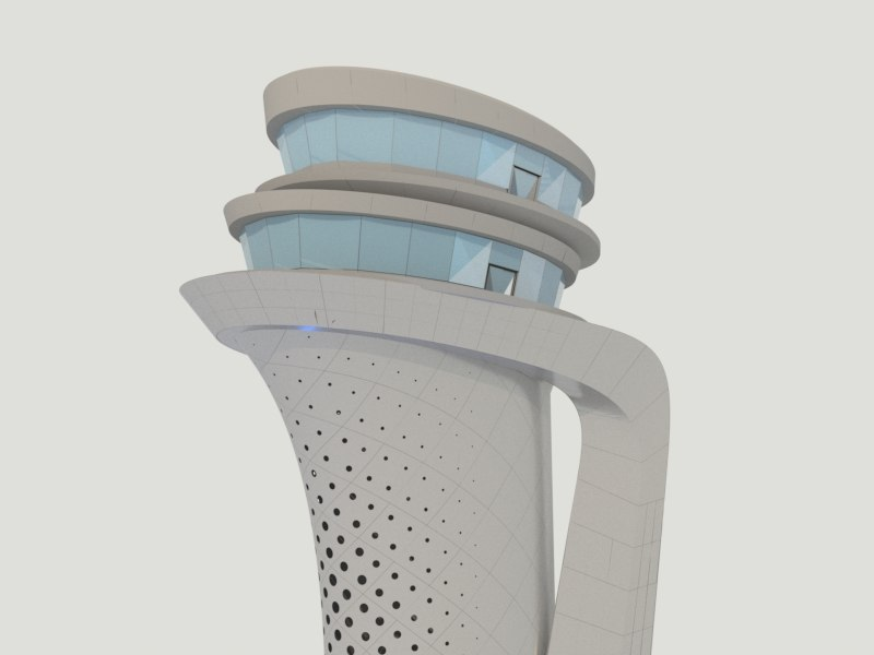 3 airport control tower 3D model