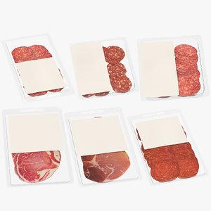 meats packaging 3D model