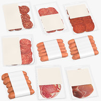 meats sausages packaging model