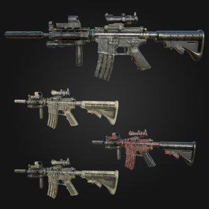 3D model m4 carbine assault rifle