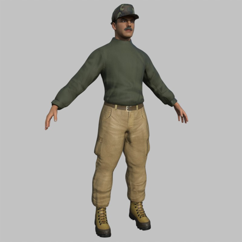 3D rigged sergeant model