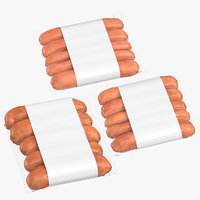 3D sausages packaging