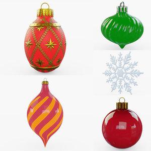 christmas ornaments 3D model