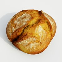 bread food loaf 3D model