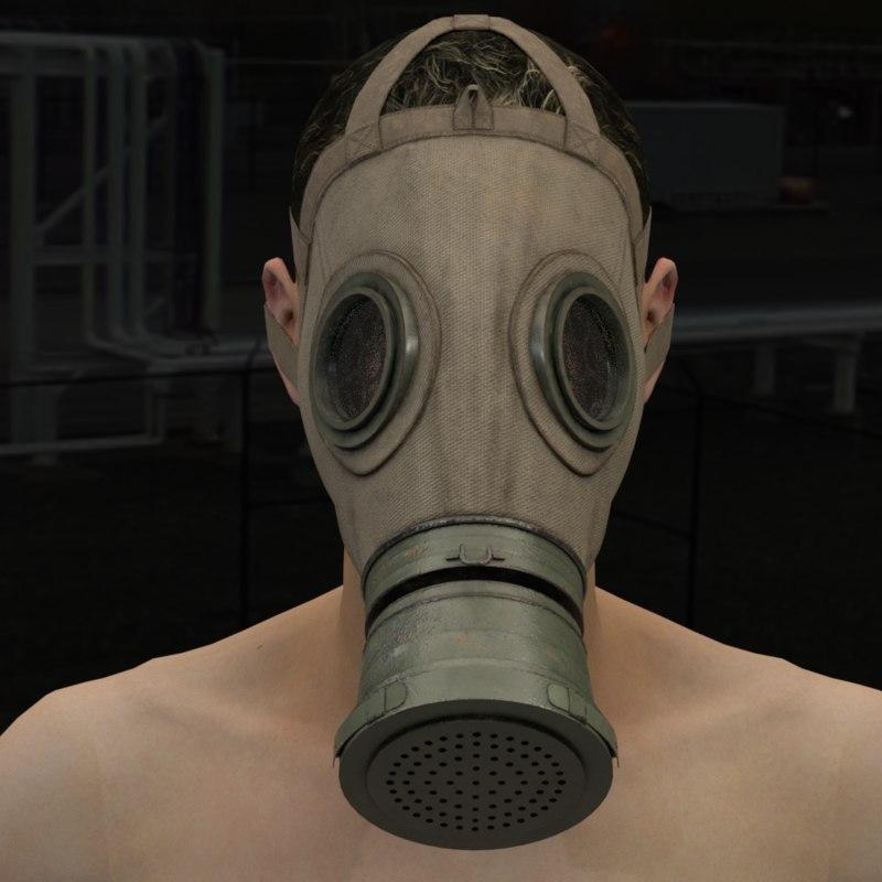 Military Gas Mask Model Turbosquid 1350306