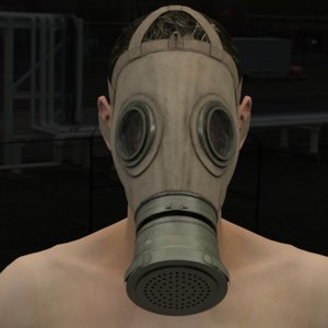 military gas mask model
