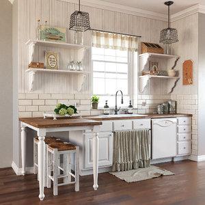provence style kitchen 3D model