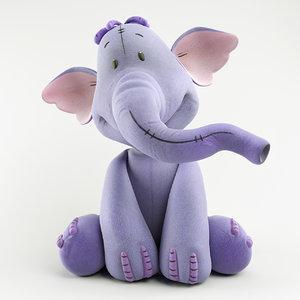 3D model heffalump elephant cartoon
