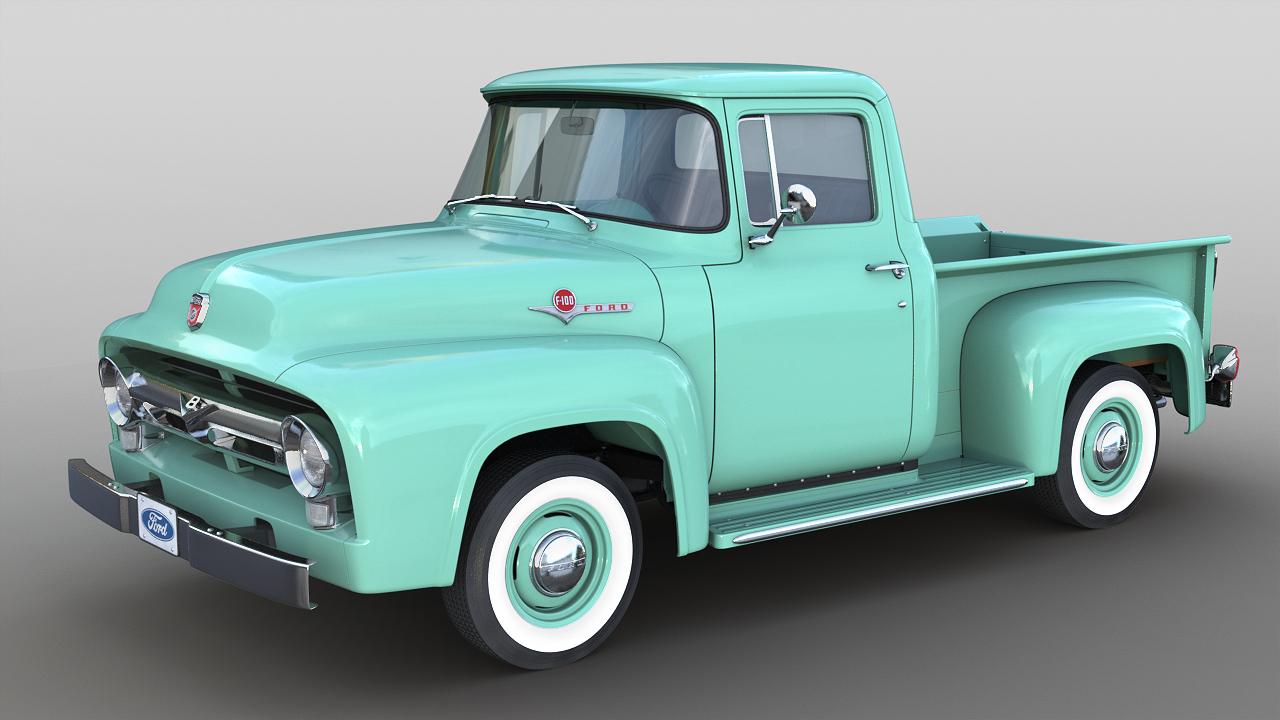 3D 1956 f-100