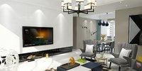 3D living-dining room interior scene