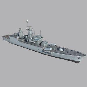 ins godavari frigate ship model